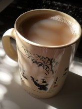 Tea in a Panda Mug